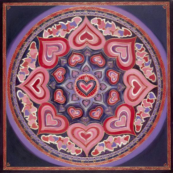 мандала любви и отношений раскраска