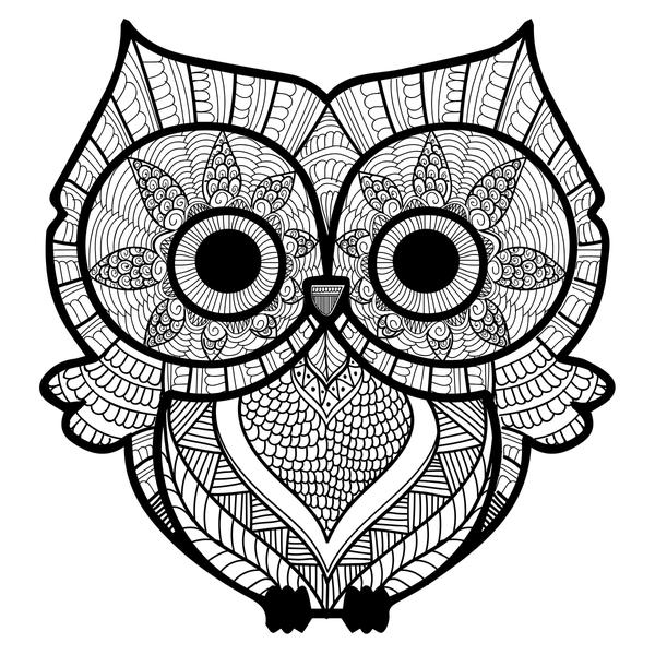 Дудлинг сова: рисуем поэтапно