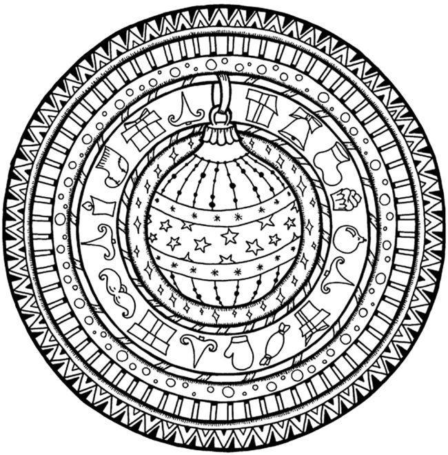Coloring-Page-Christmas-Mandala-