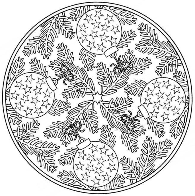 Coloring-Page-Christmas-Mandala-2