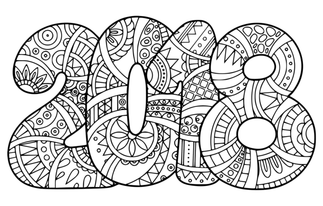 New-Year-2018-Coloring-Page-Doodle