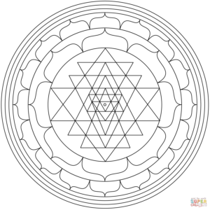 mandala-with-sri-yantra-coloring-page
