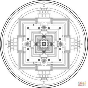 tibetan-mandala-2-coloring-page
