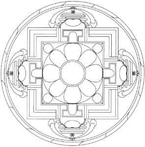 tibetan-yantra-mandala-with-flover