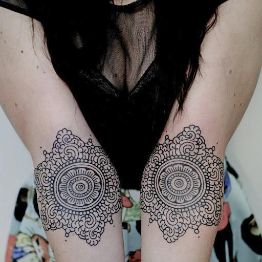 Mandala tattoos designs ideas pictures two hand