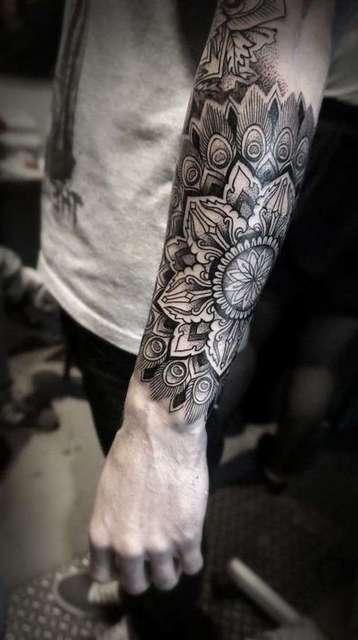 mandala-forearm-tattoo-idea