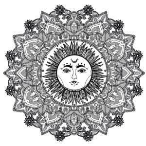 Горячая мандала Солнце, согреет ваше сердце