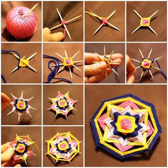 Плетение мандалы своими руками из ниток: волшебные нити к познанию себя