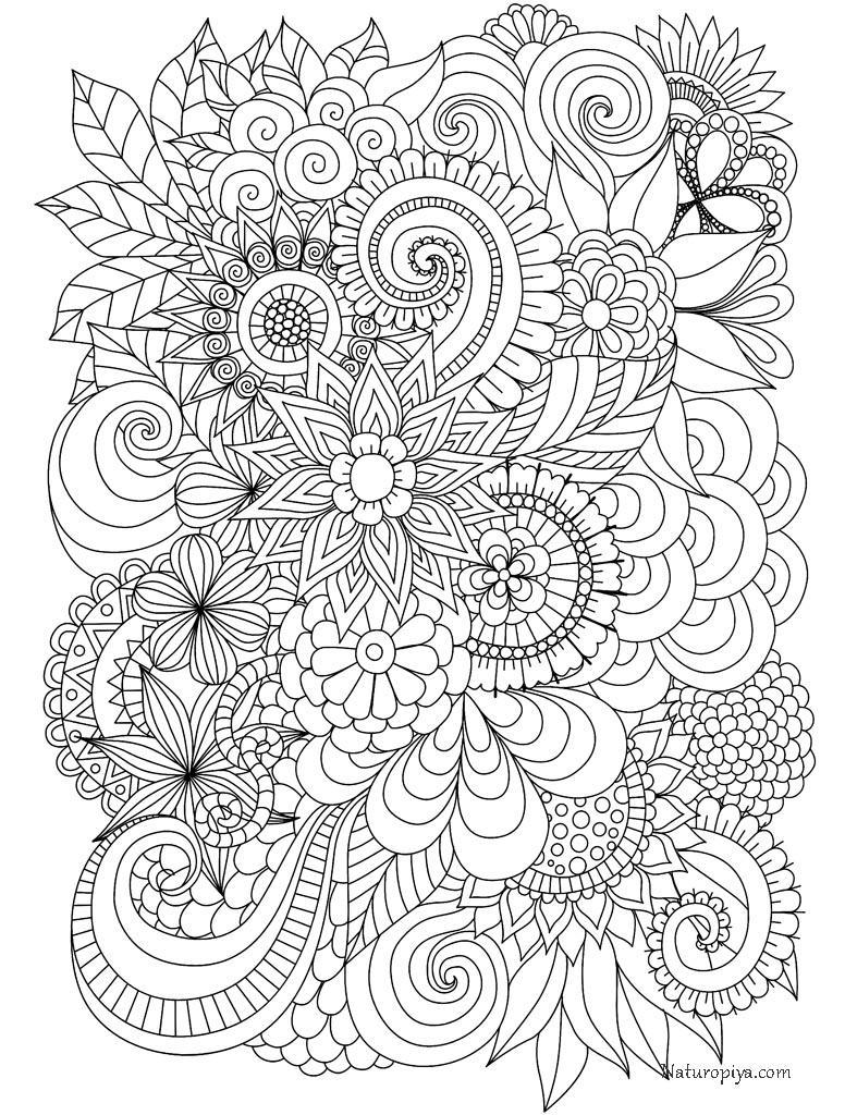раскраски антистресс цветы распечатать в хорошем качестве