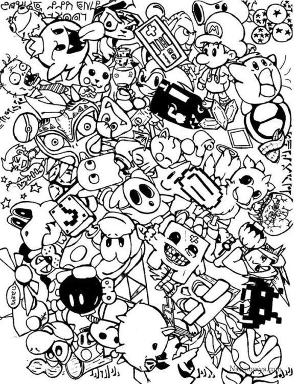 coloring-doodle-art-razmaliovka