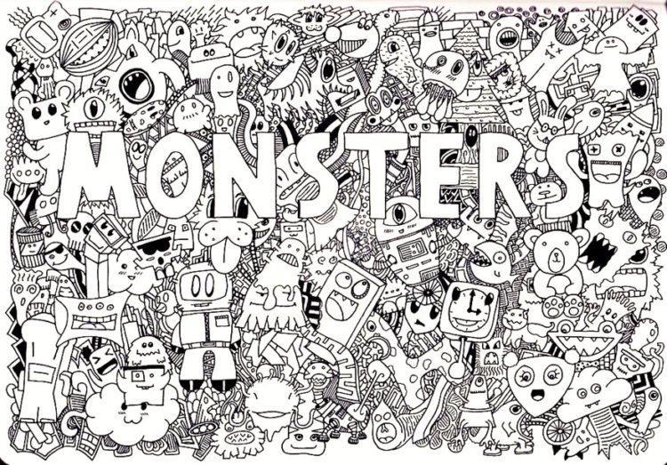 doodle-monsters-razukraska