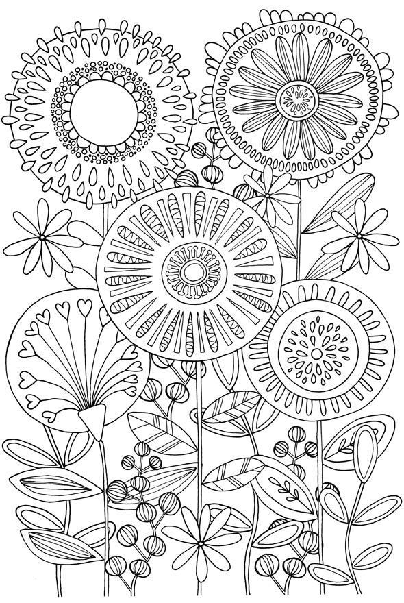 антистресс раскраски узоры цветы мандалы дудлинг распечатать