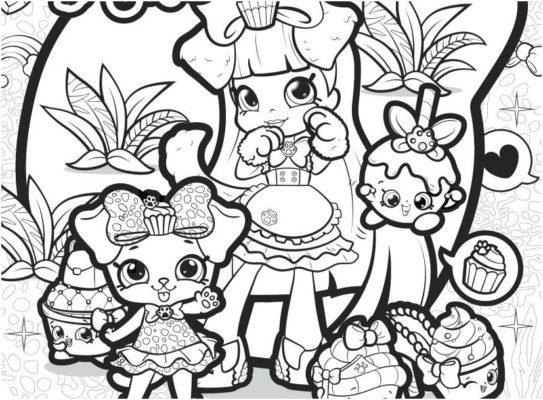 shopkins coloring pages pdf Admirably SHOPKINS Coloring Pages PD